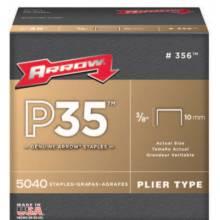 "Arrow Fastener 356 3/8"" Staple For P35 & P35S 5040 Per Box"