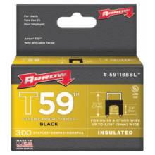 "Arrow Fastener 591188BL 1/4""X 5/16"" Insulated Staple Black 300/Box (40 BOX)"