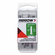 Arrow Fastener RLA1/8IP (100/Pc) Long 1/8 Aluminum Rivet