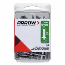 Arrow Fastener RLFA3/16IP (30/Pc) Large Flange Long 3/16 Aluminum Rivet