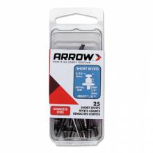 Arrow Fastener RSS1/8 (25/Pc) Short 1/8 Steelrivet