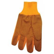 Anchor Brand 1040 10 Oz Hi-Vis Orange Plastic Dot Canvas Glove (300 PR)