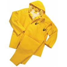 West Chester 4036/XXXXL 35 Mil Pvc Over Poly Jacket-Yellow