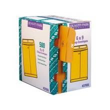 """Quality Park Clasp Envelopes with Dispenser - Clasp - #55 - 6"""" Width x 9"""" Length - 28 lb - Clasp - 500 / Carton - Kraft"""