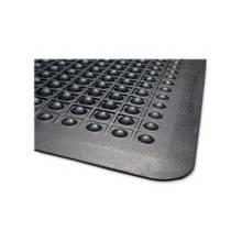 "Genuine Joe Flex Step Anti-Fatigue Mat - Warehouse - 36"" Length x 24"" Width - Rubber - Black"