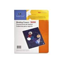 """Sparco Standard Round Corner Presentation Cover - 8 3/4"""" x 11 1/4"""" Sheet Size - Plastic - Clear - 100 / Pack"""