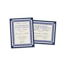 "Southworth Linen Certificate Holder - Letter - 8 1/2"" x 11"" Sheet Size - Linen - Navy Blue - 10 / Pack"