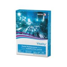 """Xerox Vitality Pastel Multipurpose Paper - Yellow - Letter - 8.50"""" x 11"""" - 20 lb Basis Weight - Recycled - 30% Recycled Content - 92 Brightness - 500 / Ream - Yellow"""