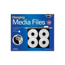 Find It Hanging CD/DVD Page - Top Loading - Poly - Black - 8 CD/DVD