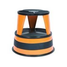 "Cramer Kik-Step 1001 Rolling Step Stool - 500 lb Load Capacity - 14"" - Orange"