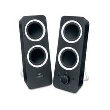 Logitech 2.0 Speaker System - Black - LED Indicator