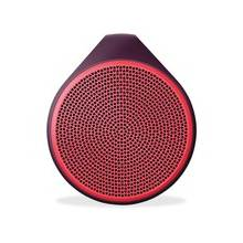 Logitech X100 Speaker System - Battery Rechargeable - Wireless Speaker(s) - Red - 30 ft - Bluetooth - USB