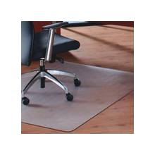 """Cleartex Megamat Heavy-Duty Chair Mat for Hard Floors or All-pile Carpets - Home, Workstation, Hard Floor, Carpet, Office - 53"""" Length x 46"""" Width - Rectangle - Polycarbonate - Clear"""