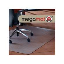 """Cleartex Megamat Heavy-Duty Chair Mat for Hard Floors or All-pile Carpets - Home, Workstation, Hard Floor, Carpet, Office - 60"""" Length x 46"""" Width - Rectangle - Polycarbonate - Clear"""
