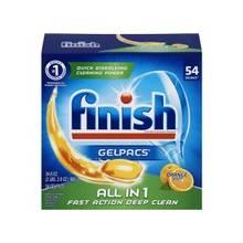Finish Gelpac Dishwasher Detergent - 1.30 oz (0.08 lb) - Orange Scent - 60 / Box - Orange