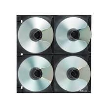 Fellowes 4x4 Binder Sheet - 25 Pack - Slide Insert - Polypropylene - Clear - 8 CD/DVD