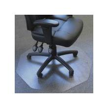 """Floortex 9Mat Chair Mat for Low to Medium-pile Carpets - Home, Carpet, Office - 39"""" Length x 38"""" Width - Polygon - Polycarbonate - Clear"""