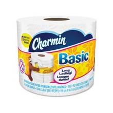 Charmin Basic Bathroom Tissue - 1 Ply - 385 Sheets/Roll - White - Soft, Clog-free, Durable, Tear Resistant, Strong, Unscented - 36 Rolls Per Carton - 13860 / Carton