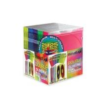 Maxell CD-392 Double Slim Color Jewel Case - Jewel Case - Book Fold - Blue, White