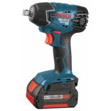 "Bosch Power Tools 24618-01 18.0 Vt Litheon Impach Wrench .5"" Drive W/2 Batt"