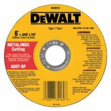 """Dewalt DW8725 6""""X.040""""X7/8"""" A60T Metalthin Cutoff Wheel Type1"""