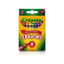 """Crayola 52-3008 Crayon Set - 3.62"""" Crayon Length - Assorted Wax - 8 / Box"""
