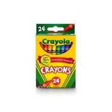 """Crayola Lift Lid Crayola Crayon Sets - 3.62"""" Crayon Length - Assorted Lead - Assorted Wax - 24 / Box"""