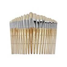ChenilleKraft Round Wood Paint Brush Set - 24 Brush(es) - Nickel Plated Ferrule - Wood Handle - Natural