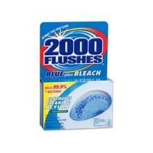 WD-40 2000 Flushes Toilet Bowl with Bleach & Blue Detergent - Tablet - 3.50 oz (0.22 lb) - 1 Each