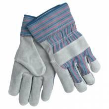Memphis Glove 1300XL Full Leather Palm W/Rd/Blu Stripe Fabric 2 1/2In (12 PR)