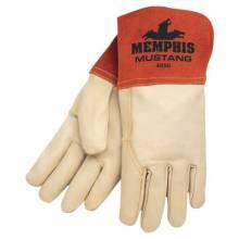 Memphis Glove 4950S Grain Leather-Gauntlet Cuff Sewn W/Kevl (1 PR)