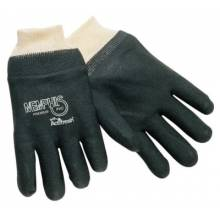 Memphis Glove 6100S Double-Dipped Pvc Blackgloves Rough Finis (1 PR)