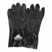 Memphis Glove 6212S Double-Dipped Pvc Blackgloves Rough Finis (1 PR)