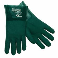 "Memphis Glove 6412 Green 12"" Gauntlet Jersey Lined Sandy (1 PR)"