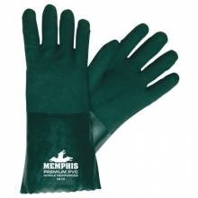 "Memphis Glove 6414 14"" Green Gauntlet Jersey Lined Sandy (1 PR)"