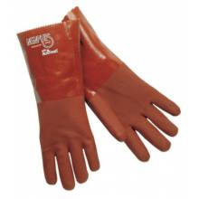"Memphis Glove 6454S 14"" Gauntlet Premium Double Dipped Red Pvc Jer (1 PR)"