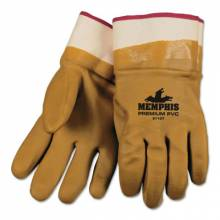 Memphis Glove 6710T Tan Foam Lined Pvc Gloves Safety Cuff (1 PR)