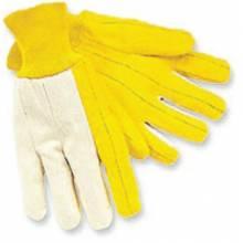 Memphis Glove 8516 Reg. Weight Canvas Backwhite Knit Wrist Golde (1 PR)
