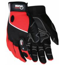 Memphis Glove 924L Multi-Task Red Spandex-Synthetic Leather- With