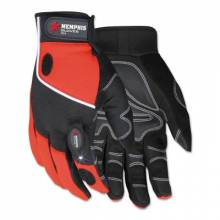Memphis Glove 924S Multi-Task Red Spandex-Synthetic Leather- With
