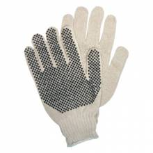 Memphis Glove 9650SM Sml Cotton/Poly Coated String Pvc Dot Natural (12 PR)
