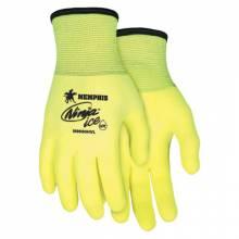 Memphis Glove N9690HVL Ninja Ice 7Ga Acrylic Hivis Lime Palm/Fingertip (12 PR)
