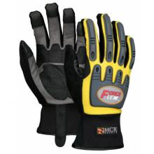 Memphis Glove Y300L Forceflex Yellow Multitask W/Clarino Palm- Size