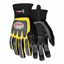 Memphis Glove Y300XL Forceflex Yellow Multitask W/Clarino Palm- Size (1 PR)