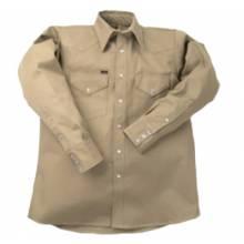Lapco LS-22-39XL 10 Oz. Khaki Heavy Dutywork Shirt Neck Size 22