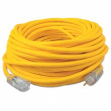 Southwire 036890002 100' Yel 12/3 Rubber Sjoow Ul Ext Cord W/Lit End