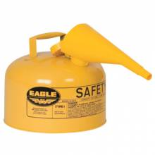 Eagle Mfg UI-25-FSY Safety Can Type 1 W/Fun2.5 Gal Yellow