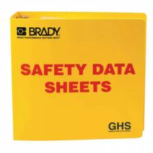 Brady 121184 Ghs - 3In Safety Data Sheet Binder  Yellow