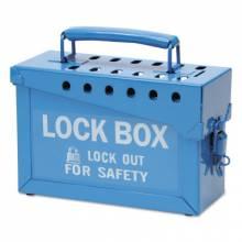 Brady 45190 Portable Metal Lock Box- Blue