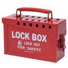 Brady 65699 Portable Metal Lock Box- Red